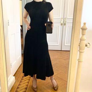 So gorgeous Zara Knit long classy black dress